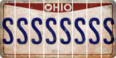 Ohio S Cut License Plate Strips (Set of 8) LPS-OH1-019