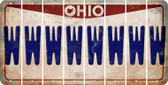 Ohio W Cut License Plate Strips (Set of 8) LPS-OH1-023