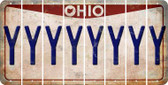 Ohio Y Cut License Plate Strips (Set of 8) LPS-OH1-025