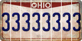 Ohio 3 Cut License Plate Strips (Set of 8) LPS-OH1-030