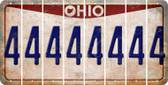 Ohio 4 Cut License Plate Strips (Set of 8) LPS-OH1-031