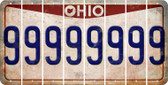 Ohio 9 Cut License Plate Strips (Set of 8) LPS-OH1-036