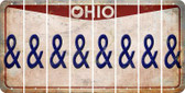 Ohio AMPERSAND Cut License Plate Strips (Set of 8) LPS-OH1-049