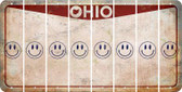Ohio SMILEY FACE Cut License Plate Strips (Set of 8) LPS-OH1-089