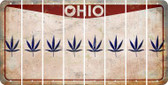 Ohio POT LEAF Cut License Plate Strips (Set of 8) LPS-OH1-090