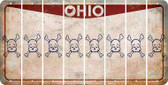 Ohio SKULL Cut License Plate Strips (Set of 8) LPS-OH1-092