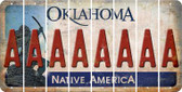 Oklahoma A Cut License Plate Strips (Set of 8) LPS-OK1-001