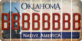 Oklahoma B Cut License Plate Strips (Set of 8) LPS-OK1-002