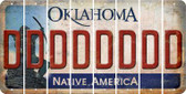 Oklahoma D Cut License Plate Strips (Set of 8) LPS-OK1-004