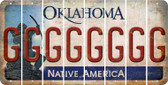 Oklahoma G Cut License Plate Strips (Set of 8) LPS-OK1-007