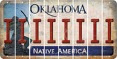 Oklahoma I Cut License Plate Strips (Set of 8) LPS-OK1-009