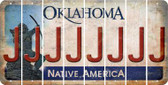 Oklahoma J Cut License Plate Strips (Set of 8) LPS-OK1-010