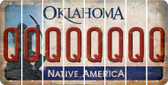 Oklahoma Q Cut License Plate Strips (Set of 8) LPS-OK1-017