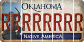 Oklahoma R Cut License Plate Strips (Set of 8) LPS-OK1-018