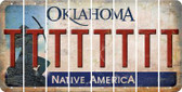Oklahoma T Cut License Plate Strips (Set of 8) LPS-OK1-020