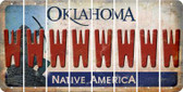 Oklahoma W Cut License Plate Strips (Set of 8) LPS-OK1-023