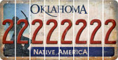 Oklahoma 2 Cut License Plate Strips (Set of 8) LPS-OK1-029