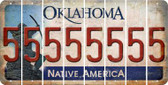 Oklahoma 5 Cut License Plate Strips (Set of 8) LPS-OK1-032