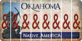 Oklahoma AMPERSAND Cut License Plate Strips (Set of 8) LPS-OK1-049
