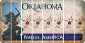 Oklahoma BOWLING Cut License Plate Strips (Set of 8) LPS-OK1-059