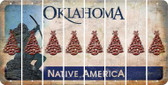 Oklahoma CHRISTMAS TREE Cut License Plate Strips (Set of 8) LPS-OK1-077