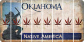 Oklahoma POT LEAF Cut License Plate Strips (Set of 8) LPS-OK1-090