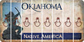 Oklahoma MIDDLE FINGER Cut License Plate Strips (Set of 8) LPS-OK1-091