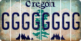 Oregon G Cut License Plate Strips (Set of 8) LPS-OR1-007