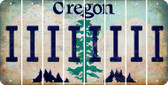 Oregon I Cut License Plate Strips (Set of 8) LPS-OR1-009