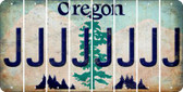 Oregon J Cut License Plate Strips (Set of 8) LPS-OR1-010