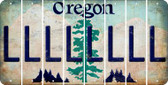 Oregon L Cut License Plate Strips (Set of 8) LPS-OR1-012