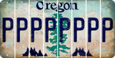 Oregon P Cut License Plate Strips (Set of 8) LPS-OR1-016