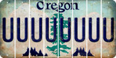 Oregon U Cut License Plate Strips (Set of 8) LPS-OR1-021