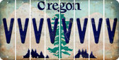 Oregon V Cut License Plate Strips (Set of 8) LPS-OR1-022