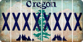 Oregon X Cut License Plate Strips (Set of 8) LPS-OR1-024
