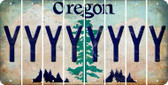 Oregon Y Cut License Plate Strips (Set of 8) LPS-OR1-025