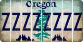 Oregon Z Cut License Plate Strips (Set of 8) LPS-OR1-026