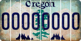 Oregon 0 Cut License Plate Strips (Set of 8) LPS-OR1-027