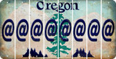 Oregon ASPERAND Cut License Plate Strips (Set of 8) LPS-OR1-039