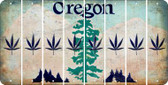 Oregon POT LEAF Cut License Plate Strips (Set of 8) LPS-OR1-090
