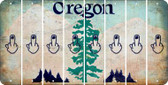 Oregon MIDDLE FINGER Cut License Plate Strips (Set of 8) LPS-OR1-091