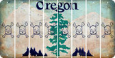 Oregon SKULL Cut License Plate Strips (Set of 8) LPS-OR1-092