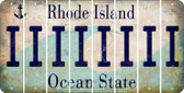 Rhode Island I Cut License Plate Strips (Set of 8) LPS-RI1-009
