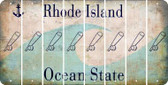 Rhode Island BASEBALL WITH BAT Cut License Plate Strips (Set of 8) LPS-RI1-057