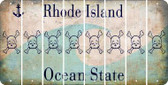 Rhode Island SKULL Cut License Plate Strips (Set of 8) LPS-RI1-092