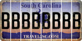 South Carolina B Cut License Plate Strips (Set of 8) LPS-SC1-002