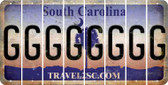 South Carolina G Cut License Plate Strips (Set of 8) LPS-SC1-007