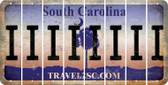 South Carolina I Cut License Plate Strips (Set of 8) LPS-SC1-009