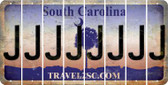 South Carolina J Cut License Plate Strips (Set of 8) LPS-SC1-010