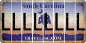 South Carolina L Cut License Plate Strips (Set of 8) LPS-SC1-012